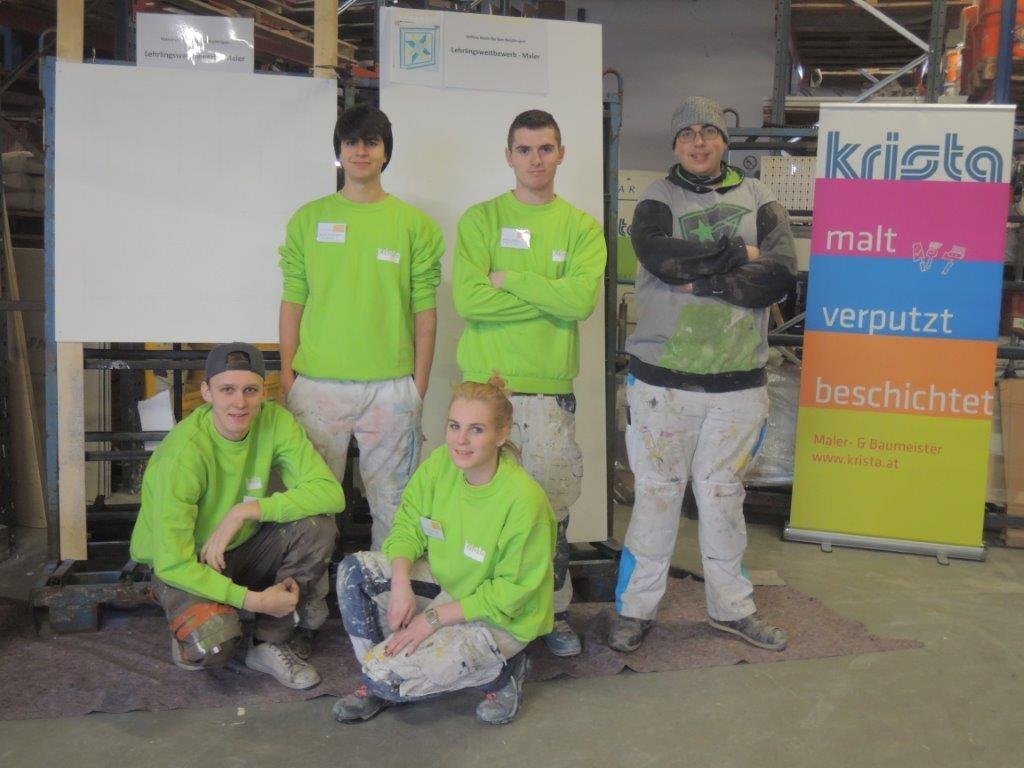 Lehrlings-Team von Farben Krista