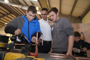LH Wallner zu Besuch bei Küng Installationen, Thüringen