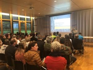 Die Lehre im Walgau gemeinsam mit Reisch Maschinenbau beim BO-Elternabend der Mittelschule Nenzing.
