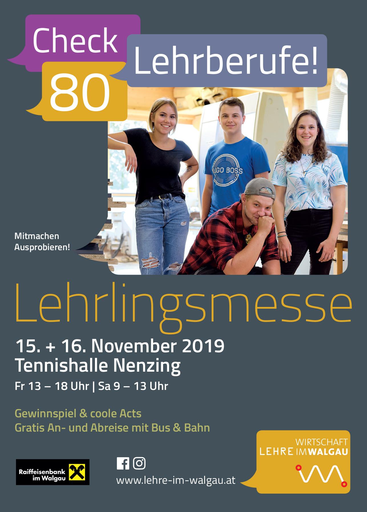 Lehrlingsmesse 2019 der Lehre im Walgau in Nenzing
